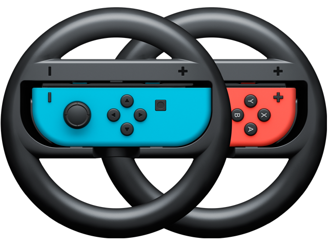 Wheels - Joy-Con - Nintendo Switch - Neon Blue L + Neon Red R - Merge