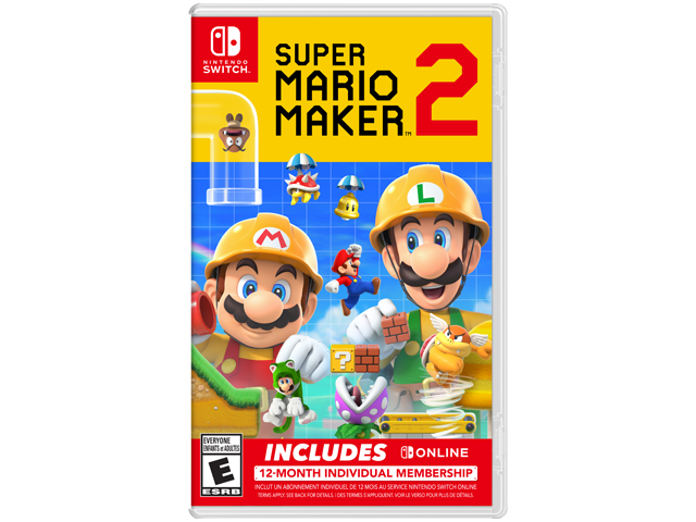 Super Mario Maker 2 Bundle US Box Art