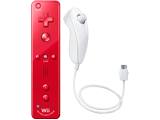 Wii Remote Plus + Nunchuk - Red/White - Refurbished