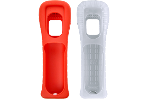 Wii Remote Jacket - Red + White - Short