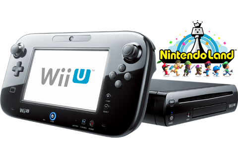 Wii U - Black Deluxe + Nintendo Land - Refurbished