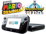 Black Wii U Deluxe w/Nintendo Land and Super Mario 3D World Bundle - Refurbished