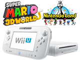 White Wii U 32GB Deluxe + Super Mario 3D World + Nintendo Land - REFURBISHED