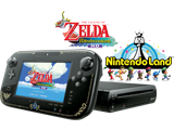 Limited Edition Zelda Wii U Deluxe + Legend of Zelda Wind Waker HD + Nintendo Land - REFURBISHED