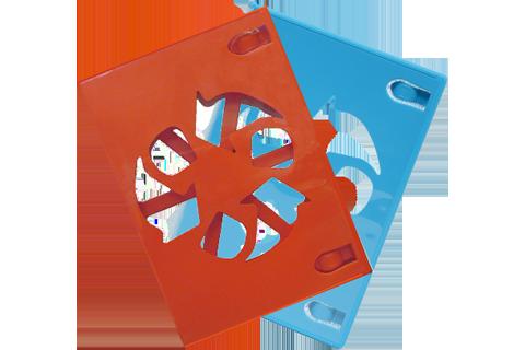 Game Disc Case - Wii U - Red + Blue