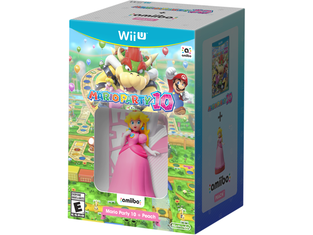 Mario Party 10 + Peach amiibo Box Art