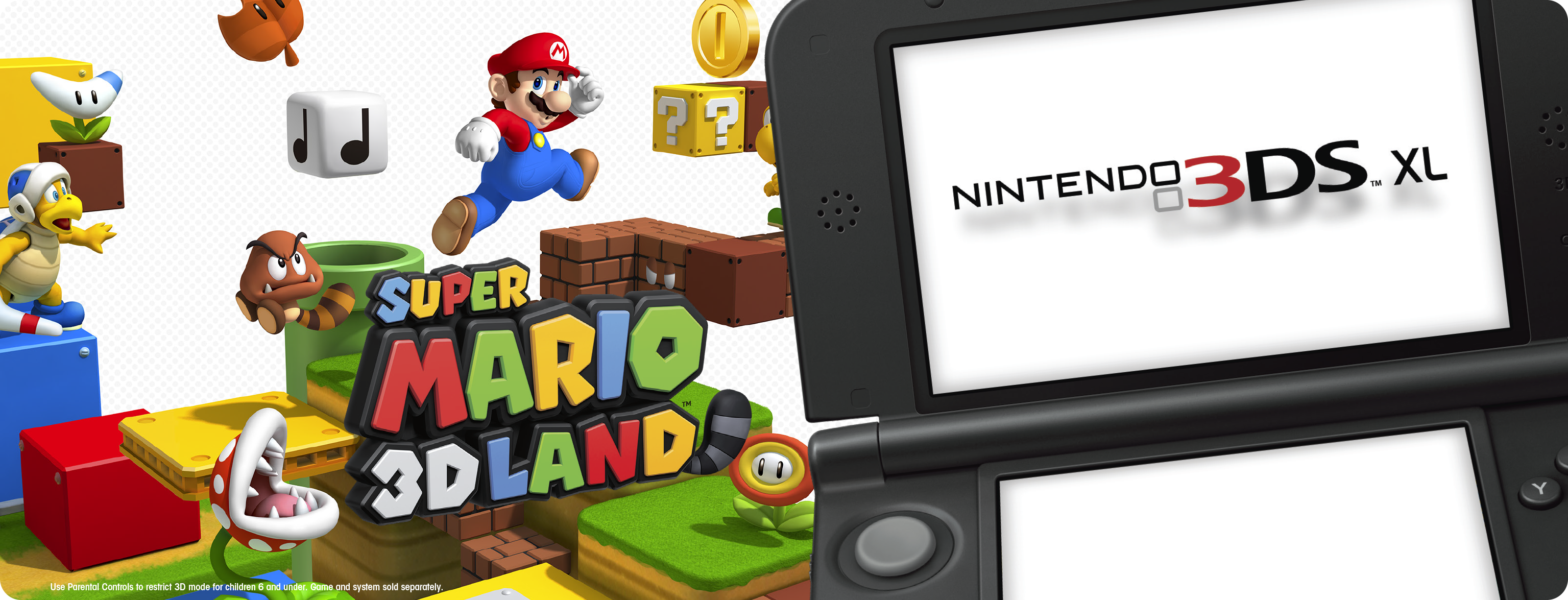 Hero Image-Nintendo 3DS XL-Super Mario 3D Land-US