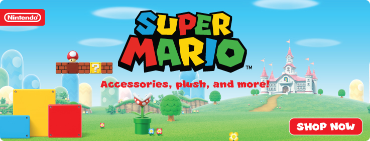 Hero Image-Super Mario-Apparel+Plush+More-US