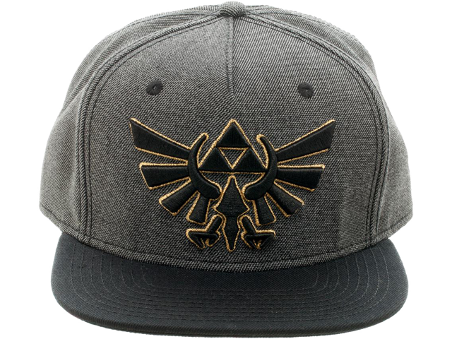 Bioworld - Snapback Cap - Zelda - Gray - Symbol - Front