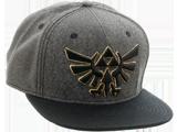 Bioworld - Snapback Cap - Zelda - Gray - Symbol - Front - Quarter