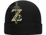 CG - Knit Cap - Zelda - Black - Sword - Front