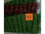 MI - Knit Cap - Zelda - Green + Brown Stripes - Detail