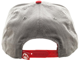 Bioworld - Snapback Cap - Mario - Gray - Face - Back