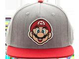 Bioworld - Snapback Cap - Mario - Gray - Face - Front