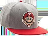 Bioworld - Snapback Cap - Mario - Gray - Face - Front - Quarter