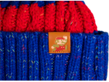 MI - Knit Cap - Mario - Red + Blue Stripes - Detail