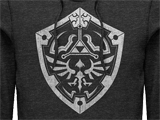 Hoodie - Hyrule Shield - Charcoal Heather - Detail