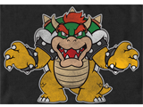 T-Shirt - Bowser - Roar - Black - Detail