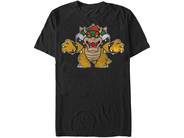 T-Shirt - Bowser - Roar - Black - Front