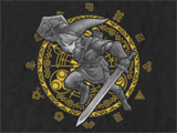 T-Shirt - The Legend of Zelda - Link - Gray Link - Black - Detail