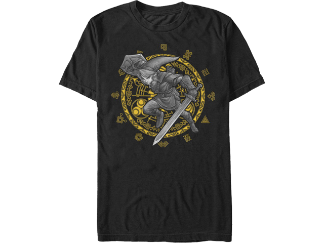 T-Shirt - The Legend of Zelda - Link - Gray Link - Black - Front
