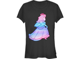 T-Shirt - Princess Peach - Rainbow Fade - Black - Front