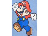 T-Shirt - Super Mario - Pose - Light Blue - Detail