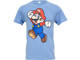 T-Shirt - Super Mario - Pose - Light Blue - Front