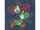 T-Shirt - Yoshi - Egg - Blue Heather - Detail