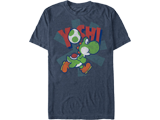 T-Shirt - Yoshi - Egg - Blue Heather - Front