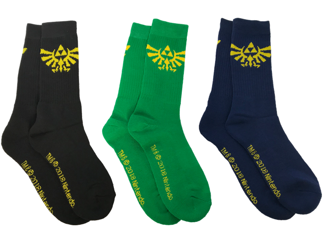 Bioworld - Socks - The Legend of Zelda Hyrule Crest - All