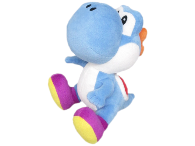 Little Buddy - Mario - Plush - Yoshi - Blue - 8 inch