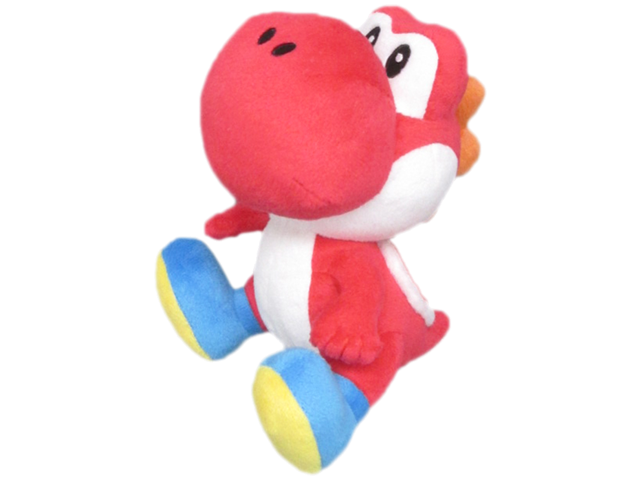 Little Buddy - Mario - Plush - Yoshi - Red - 8 inch