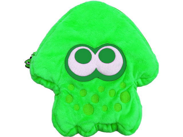 Hori - Splatoon 2 - Plush Pouch - Squid - Green