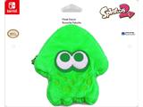 Hori - Splatoon 2 - Plush Pouch - Squid - Green - Package