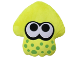 Little Buddy - Splatoon - Cushion - Squid - Neon Yellow