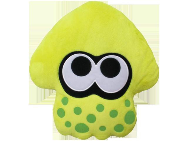 Little Buddy - Splatoon - Cushion - Squid - Neon Yellow